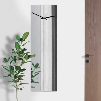 """Design Object Orologio da parete verticale in metallo specchiato """"SPECCHIO NARCISO""""      IT6683"""