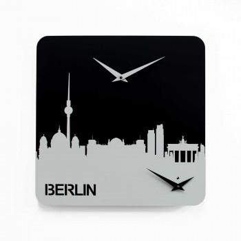 Progetti Orologio da parete con doppio quadrante Berlino Time Travel Nero/Grigio