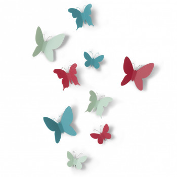 Umbra Farfalle decorative da parete Mariposa Set 9pz
