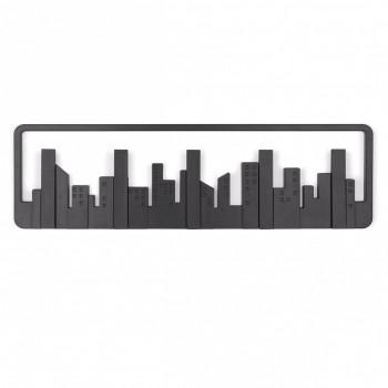 Umbra Attaccapanni da parete in plastica con ganci ribaltabili Skyline