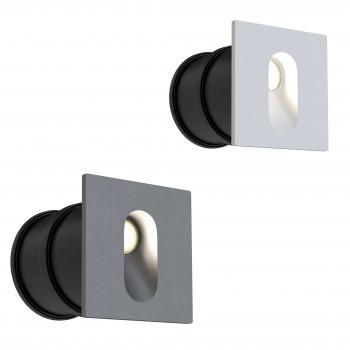 Maytoni Faretti da incasso a LED con struttura in alluminio quadrata in stile moderno Via Urbana  Lumen 70 4000k Luce Naturale  O022-L3