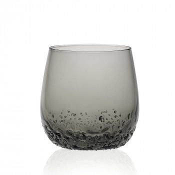 Ves Design Bicchieri bassi 2Pz in vetro trasparente in stile moderno Terra
