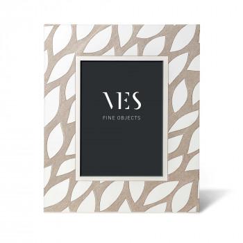 """Ves Design Portafoto da tavolo con cornice in legno dal design moderno """"Leaves White"""" Istanti    13x18"""