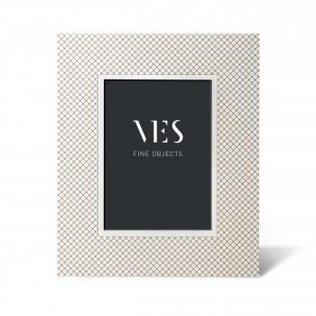 """Ves Design Portafoto moderno con cornice in legno """"Netting White"""" Istanti    13x18"""