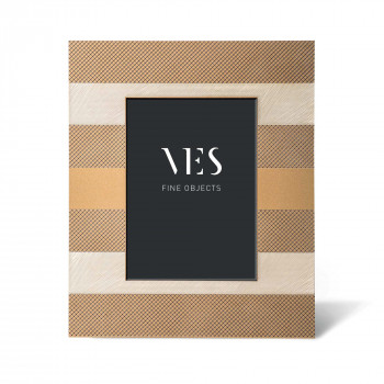 """Ves Design Portafoto moderno con cornice in legno """"Tabaco Gold"""" Istanti    13x18"""
