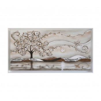 """Art Maiora Quadro con paesaggio e alberi """"Volo"""" 130x65      VLO1"""