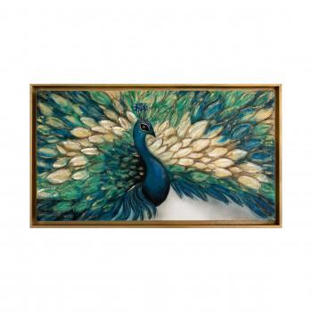 "Art Maiora Quadro moderno con animali dipinto a mano su tela ""Vanity"" 130x70      VNTY"
