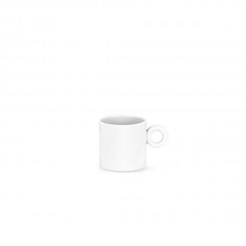 Alessi Tazza da caffè Set 4pz Dressed Bianco    MW01/76