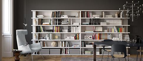 Librerie da parete per zona living o ufficio in vendita online for Librerie vendita online